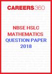 NBSE HSLC Mathematics Question Papers 2018