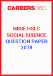 NBSE HSLC Social Science Question Papers 2018