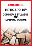 HP Board 10th Commerce Syllabus & Marking Scheme 2020
