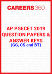 AP PGECET 2019 Question Papers & Answer Keys for GG, CS and BT