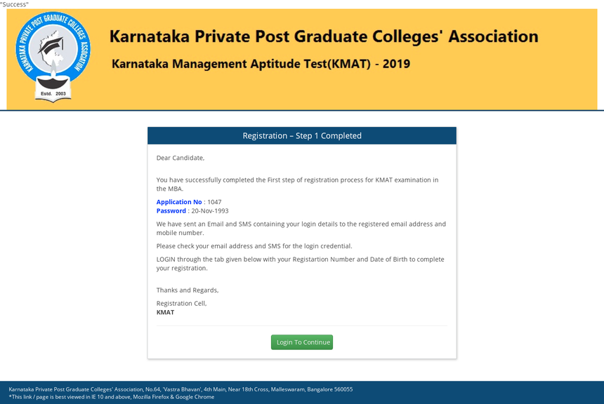 KMAT Application Form 2019 (Date Extended), Registration – How to Apply