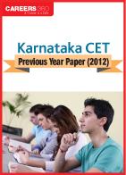 Download Karnataka CET Previous Year Paper (2012)