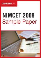 NIMCET Sample Paper 2008