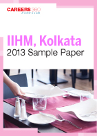 IIHM, Kolkata 2013 Sample Paper