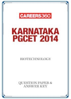 Karnataka PGCET 2014 Biotechnology Question Paper & Answer Key