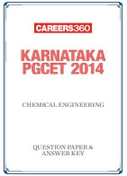 Karnataka PGCET 2014 Chemical Engineering Question Paper & Answer Key