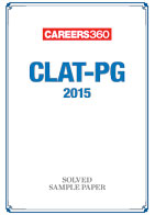 CLAT PG 2015 Solved Sample Paper