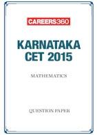 Karnataka CET 2015 Mathematics Question Paper
