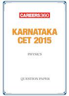 Karnataka CET 2015 Physics Question Paper