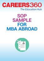 SOP Sample for MBA Abroad