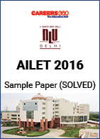 AILET 2016 Sample Paper – Solved