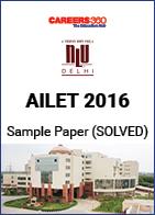 AILET 2016 Sample Paper – Solved