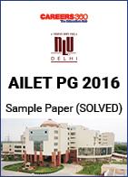 AILET PG 2016 Sample Paper - Solved