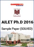 AILET Ph.D 2016 Sample Paper - Solved