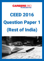 CEED 2016 Question Paper 1 (Rest of India)