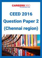 CEED 2016 Question Paper 2 (Chennai Region)