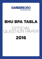 BHU BPA TABLA Sample Paper 2016