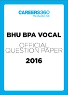 BHU BPA VOCAL Sample Paper 2016