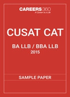 CUSAT CAT 5-year Integrated Sample Paper 2015