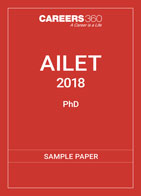 AILET Ph.D Sample Paper 2018