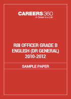 RBI Officer Grade B English Sample Papers DR General 2010-2012