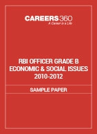RBI Officer Grade B Economic & Social Issues Sample Papers 2010-2012