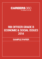 RBI Officer Grade B Economic & Social Issues Sample Paper 2014