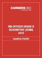 RBI Officer Grade B Descriptive Sample Paper (DSIM) 2010