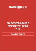 RBI Officer Grade B Descriptive Sample Paper (DSIM) 2012
