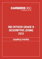 RBI Officer Grade B Descriptive Sample Paper (DSIM) 2013