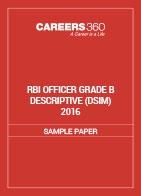 RBI Officer Grade B Descriptive Sample Paper (DSIM) 2016