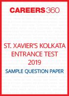 St. Xavier's Kolkata Entrance Test Sample Question Paper