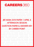 JEE Main 2019 Paper 1 April 8 Afternoon Session Question Paper & Answer Key by Career Point
