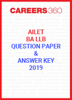 AILET 2019 Question Paper and Answer Key (BA LLB)