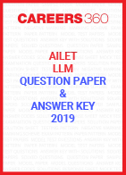 AILET 2019 Question Paper and Answer Key (LLM Program)
