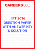 IIFT 2016 Question Paper with Answer Key and Solution