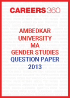 Ambedkar University MA Gender Studies Question Paper 2013