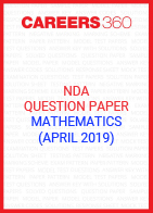 NDA Question Paper (April 2019) Mathematics
