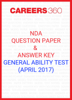 NDA Question Paper & Answer Key (April 2017) General Ability Test