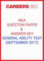 NDA Question Paper & Answer Key (September 2017) General Ability Test