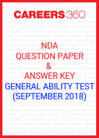 NDA Question Paper & Answer Key (September 2018) General Ability Test