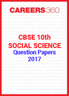 CBSE 10th Social Science Question Papers 2017