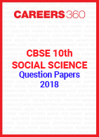 CBSE 10th Social Science Question Papers 2018