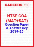 NTSE Goa 2019-20 Question Paper & Answer Key