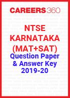 NTSE Karnataka (MAT+SAT) Question Paper & Answer Key 2019-20