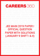 JEE Main 2019 Paper 1 Official Question Paper with Solutions - January 9