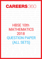 HBSE 10th Mathematics 2018 Question Paper