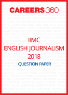 IIMC English Journalism Question Paper 2018