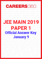 JEE Main 2019 Paper 1 Official Answer Key - January 9