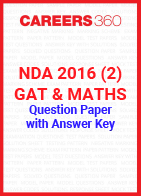 NDA 2016 2 (GAT & Maths) Question Paper & Answer Key